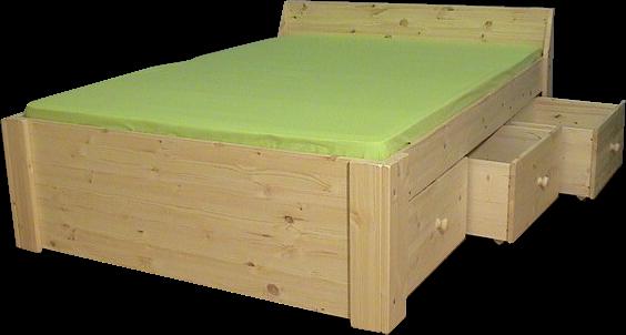 Houten Bed - Jaqueline 1