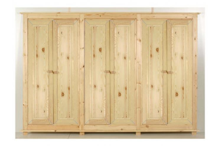 6-deurs kastenserie Vlieland (270 cm breed, 165 - 231 cm hoog)