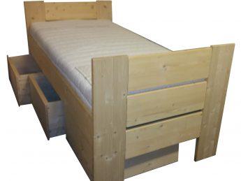 Houten Bed met 3 of 6 laden - Stephanie E+E