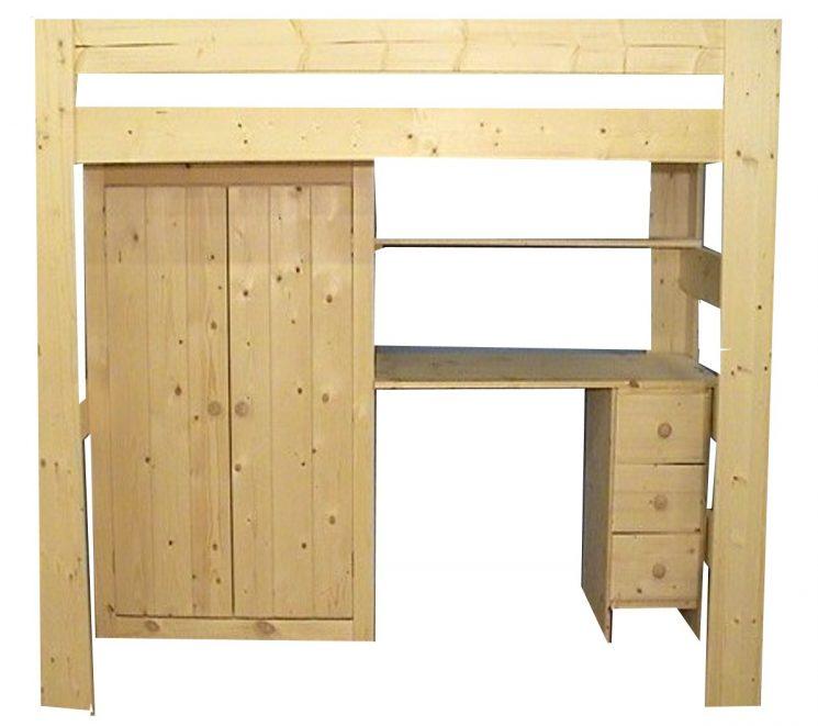 Hoogslaper met inbouw 2D kast - MAUR1 (170-230cm Hoog)