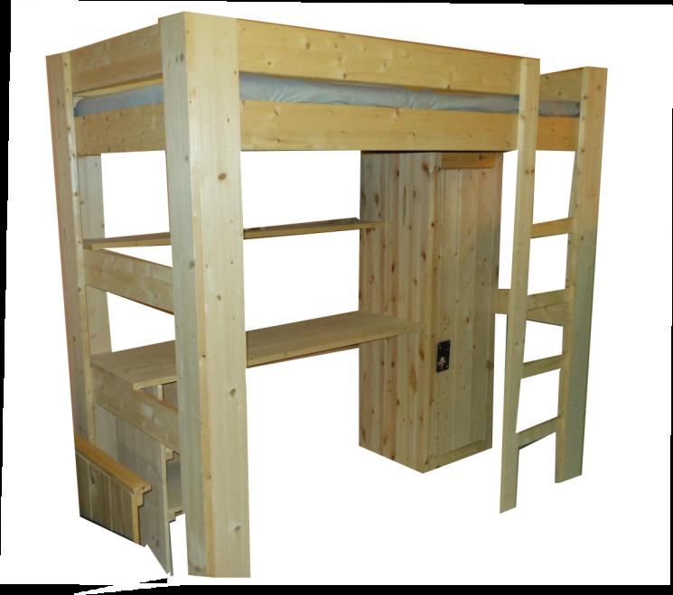 Hoogslaper met inbouw - MAUR1 (170-230cm Hoog)