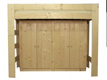 Hoogslaper met kast aan lange zijde - MAUR1 (170-230cm Hoog)