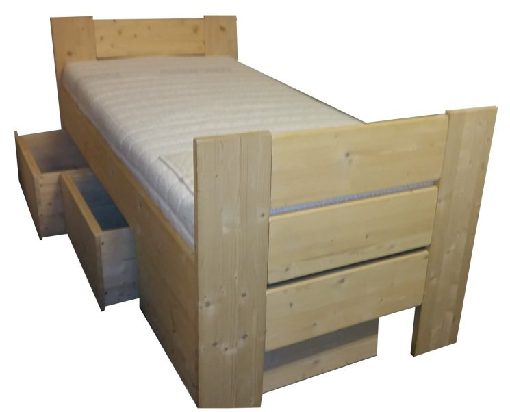 Houten Bed - Stephanie E+D