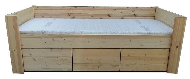Houten Bank Bed - Petra (Met bodem, matras, levering én montage)