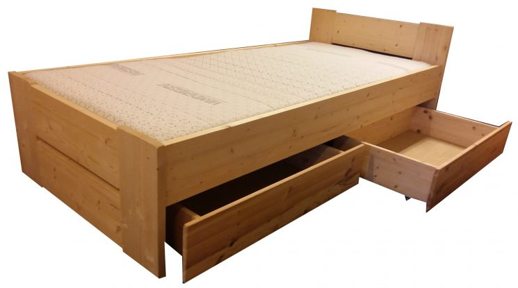 Houten Bed - Stephanie D+C