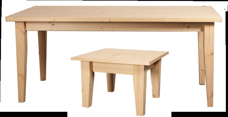 Eet- en salontafels met gedraaide of taps toelopende poten